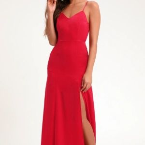 Lulus Sexy Sleek Red Dress - Size Small